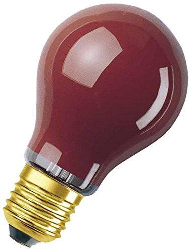 ezial Glühbirne in rot, E27-Sockel, 11 Watt (Farbige Glühbirnen)