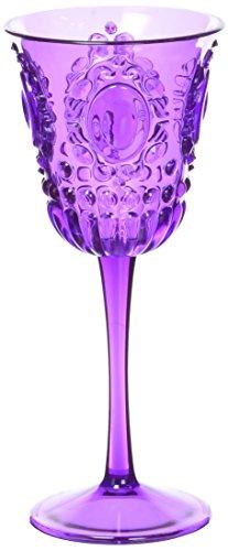 Baci BM 673742 Acrylaat Wein-Glas Kleiner Satz von 6 Stücken, lila, 6,5 x 6,5 x 15 cm