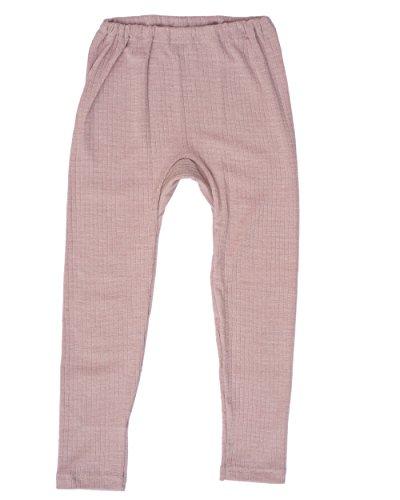 Cosilana, Kinder Leggings/Lange Unterhose, 45% KBA Baumwolle, 35% kbT Wolle, 20% Seide (104, Pink Meliert)