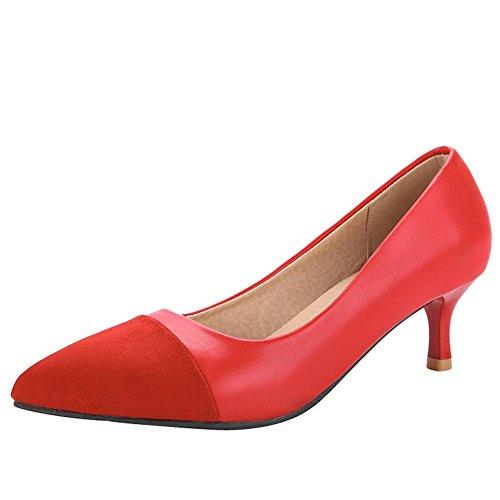 Zapatos Misssasa Donna Elegante Rojo
