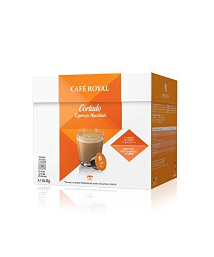 Café Royal Cortado Neue Generation, 48 kompatible Kapseln für Nescafé Dolce Gusto, 3er Pack (3 x 16 Kapseln)