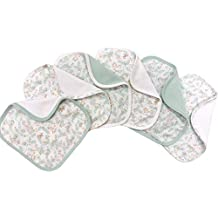 Soulwell Baby Bio Waschlappen Set 6 super weiche bunte glatte Premium Qualit/ät GOTS zertifiziert Multi-Zweck Frottee Handt/ücher 21 x 21 cm