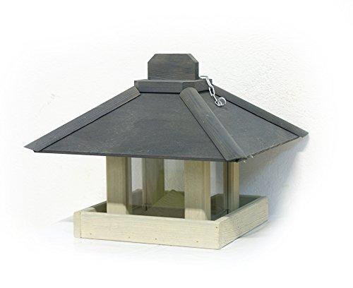 Gardissimo Vogelhaus Kiefer, zum aufhängen, grau/anthrazit,