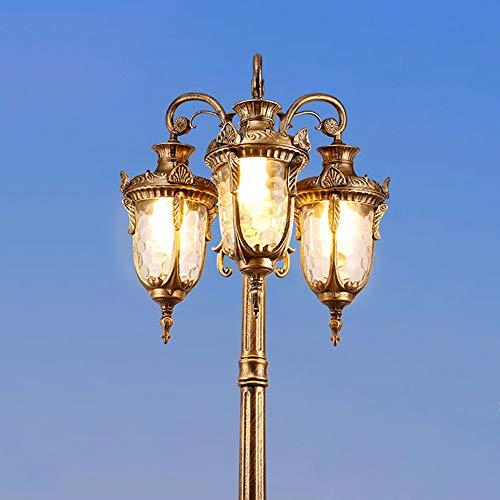 Modenny 3-Licht traditionelle viktorianische Säule Post Lampe Straßenlaterne IP44 wasserdichte Outdoor Garten Landschaft Beleuchtung Säule Lampe amerikanische Retro Bronze Finish Villa Rasen Boden Tis - Drei-licht-post-lampe
