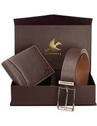 Hornbull Mens Wallet and Belt Gift Set