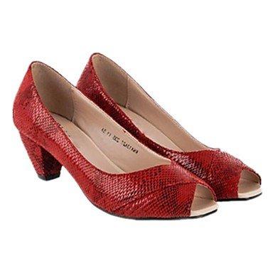 LvYuan Da donna Sandali Con cinghia PU (Poliuretano) Primavera Estate Casual Con cinghia Quadrato Nero Caffè Rosso 2,5 - 4,5 cm ruby