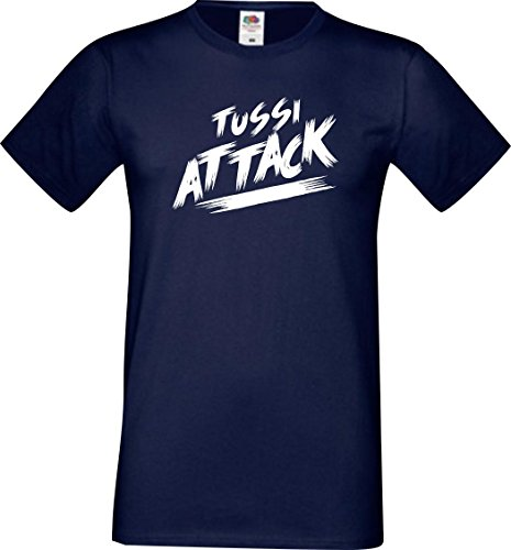 Shirtinstyle Männer T-Shirt Tussi Attack,Navy, XXXL