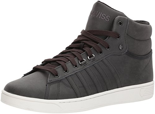K-Swiss Herren Hoke Mid CMF Sneaker, Grau (Raven/Cloud Dancer), 42 EU (High-cut Herren)
