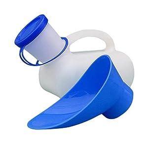 Unisex Töpfchen Urinal Mit Haben Eine Abdeckung Und Stecker Für Auto Camping Outdoor Reisen, Urinflasche Damen Herren, Incontinece Pee Flasche, Kunststoff Urinale, Alter Mann, Kind (1000 ML)