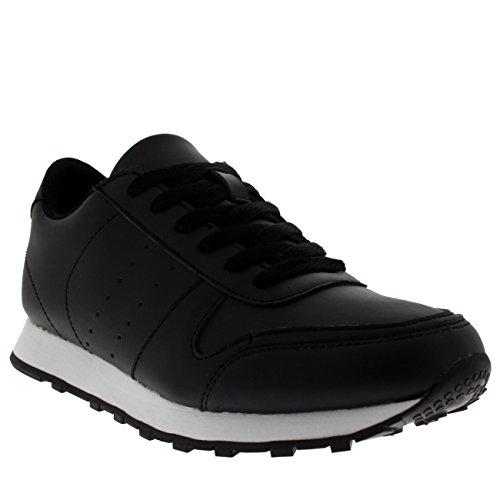 GETFIT Hommes Running Sports Absorption De Choc Poids Léger Gym En Marchant Formateurs Sneakers Noir/Blanc