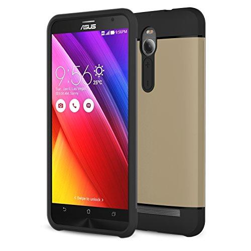 MoKo ASUS ZenFone 2 Case - [Serie Armatura Ibrido] [Protezione Dual Layer] Custodia Angoli Tecnologia a cuscino d'aria + Paraurti per ASUS ZenFone 2 5.5 Inch Android Smart Phone 2015 release,