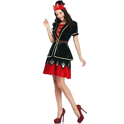 BERTHACC Unisex Erwachsene Kinder Kostüm Weihnachtskostüm, Weihnachtself