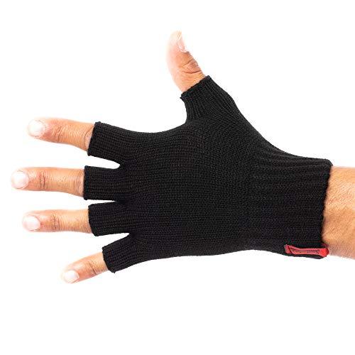 SMILODOX, Guanti senza dita | Pratici Guanti invernali in maglia | Comodi e Morbidi per tutti i giorni e per il tempo libero | Unisex & taglia unica nero Taglia unica