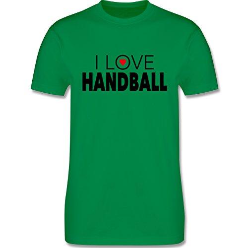 Handball - I Love Handball - Herren Premium T-Shirt Grün