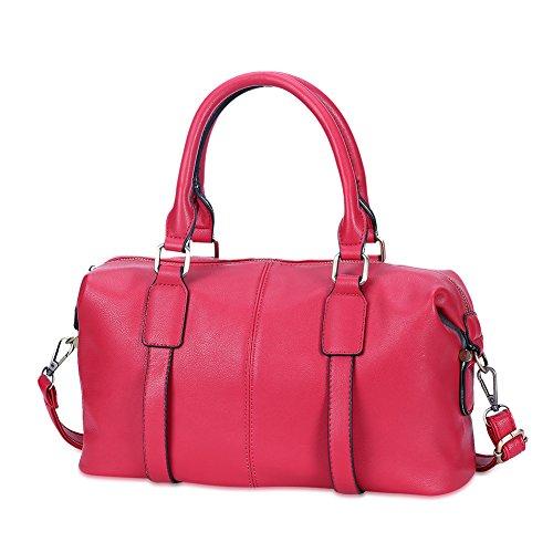 Mefly Borsa Da Donna Lady Pu Pillow Pack Outdoor Borsa Da Viaggio Rosa gules