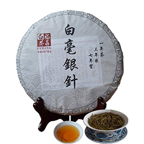 Chinesischer Kräutertee Weißer Tee Silber Nadel Bai Hao Yin Zhen Kuchen 300g g 0,66LB) Neuer duftender Tee Grüner Tee Gesundheitspflege Blumentee Hochwertige gesunde grüne Nahrung