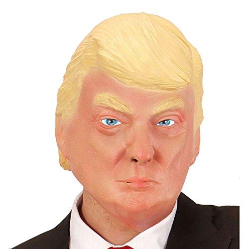 NET TOYS Donald Trump Maske Latexmaske Präsident Faschingsmaske Politiker Masken ()