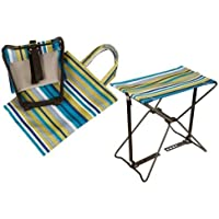 PMS International Roots & Shoots Portable Folding Stool with Carry Bag