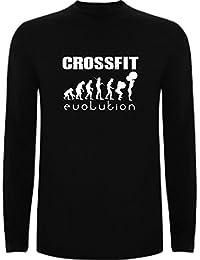 The Fan Tee Camiseta Manga Larga de Mujer Crossfit Gym Deporte 2742cc121572b