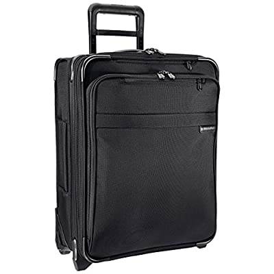 Briggs & Riley International Carry-On Expandable Wide-Body Upright, 55cm, 59.3 litres, Black - suitcases