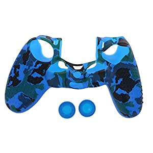 YoungerY (1 Satz PS4 Slim PRO Silikonhülle Controller – Camouflage Blue