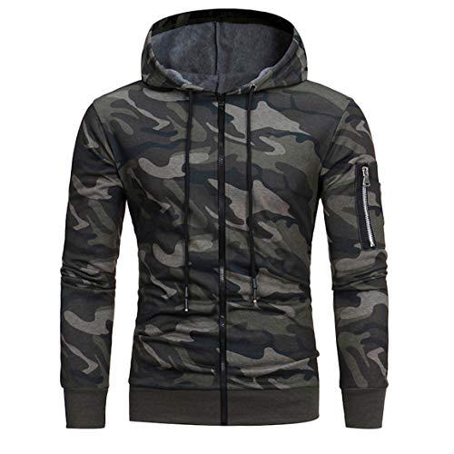 Herren Herbst Pullover Mann Junge Camouflage Bluse Mode Winter Packwork Slim Fit Langarm Hoodie Regelmäßige Top Moonuy