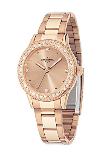 Chronostar Princess-Orologio da donna al quarzo con Display analogico, colore: oro rosa e oro rosa, cinturino R3753242504 in acciaio INOX