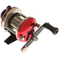 RLJJCS1163 La Pesca de los Pescadores Carrete Mano Derecha Bout aleación Cebo Carrete de la Pesca 3.6: 1 (Color : Red)