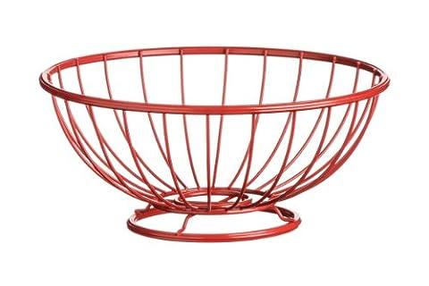 Premier Housewares Helix Fruit Basket, 11.5 x 26 x 26 cm - Red