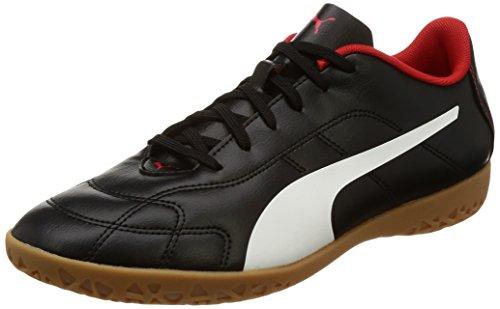 Puma Herren Classico C It Fußballschuhe, Schwarz Black-White-High Risk Red, 45 EU (Herren-schuhe Red)