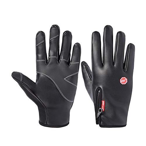 Outdoor-Handschuhe für Männer und Frauen - alle beziehen sich auf winddichte, wasserdichte und samtige warme Winterhandschuhe - Sport Reiten Wandern Skifahren Angeln Laufhandschuhe - 100% winddicht wa