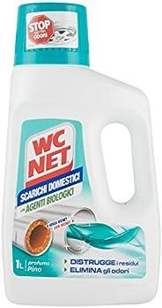 Wc Net Professional Scarichi Domestici con Agenti Biologici, Trattamento Liquido, Fragranza Pino, 1000 ml