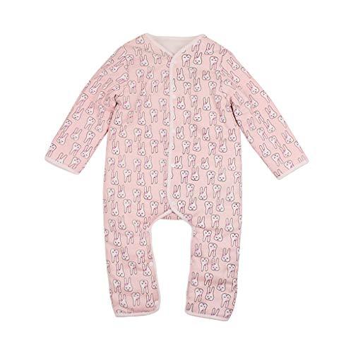 JiaMeng Neugeborenen Boby Kleidung Säuglingsbabymädchen Dick Klettern Spielanzug -