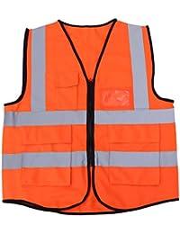 Aofocy Warnweste Reflektierende Weste Hohe Sichtweste Arbeiter Sicherheitssignalweste f/ür Laufen bei Nacht Sport Joggen Radfahren Reiten Sicherheitsarbeit 1 St/ück