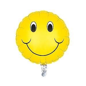SUSY CARD Globo lámina de plástico con Cara Sonriente.