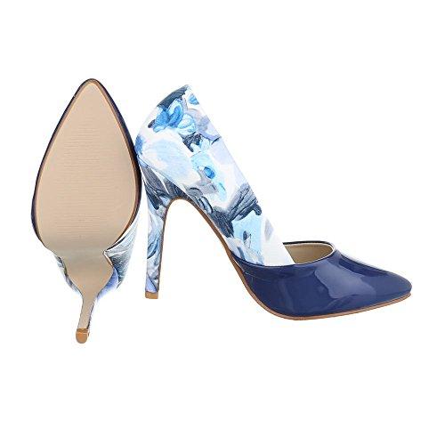 Ital-Design - Scarpe con plateau Donna Blau Multi