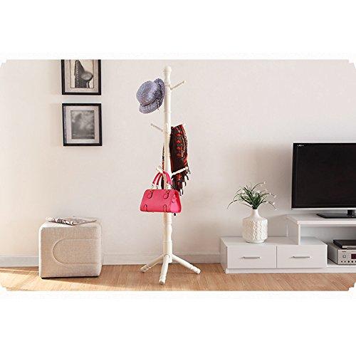 AJZGF Garderobe Garderobe Holzboden Hause Schlafzimmer Kleiderbügel Einfaches Wohnzimmer Europäischen Kreative Kleiderständer Hutstand (Farbe : 3#)