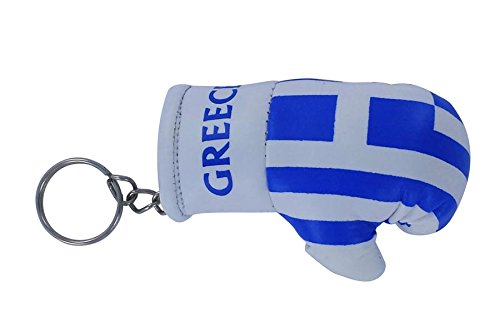 Tür Schlüssel Schlüssel Schlüssel Flagge überbieten Griechische Boxhandschuh Flag Greek Schlüsselanhänger
