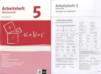 Reelle Zahlen, Potenzen, Funktionen, Geometrie, Gleichungssysteme, quadratische Gleichungen. Ausgabe ab 2009: Arbeitsheft mit Lösungsheft Klasse 9 (Arbeitsheft Mathematik)