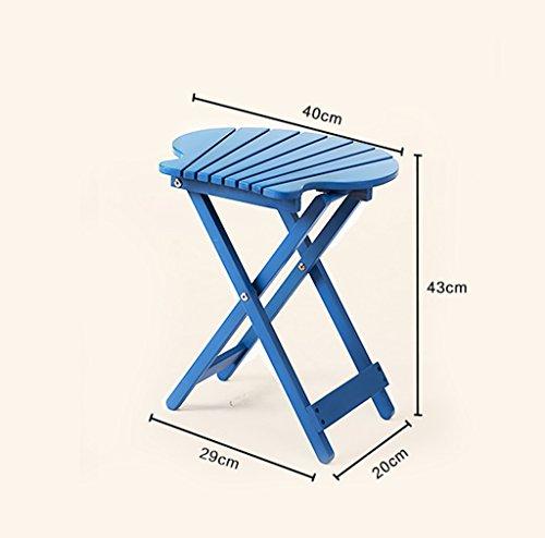 DFHHG® Porte-fleurs, pli en bois massif Loisirs Petite table salon Chambre balcon table basse Bureau portable 29 * 20 * 43cm Support de fleur américain ( Couleur : Bleu )