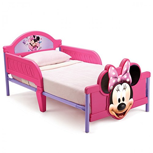 Mickey Minnie-möbel Und (Disney 3D Kinderbett Lightning McQueen Princess Mickey Minnie Bett Möbel Kinderzimmer 140x70 Schlafen NEU, Motiv:Minnie)