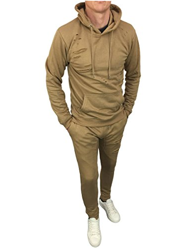 King Kouture Herren Trainingsanzug beige stone Small Gr. L, stone (Boot Hooded Sweatshirt)