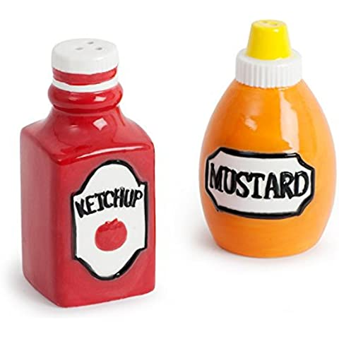 Balvi - Set sale pepe Ketchup & Mustard ceramica