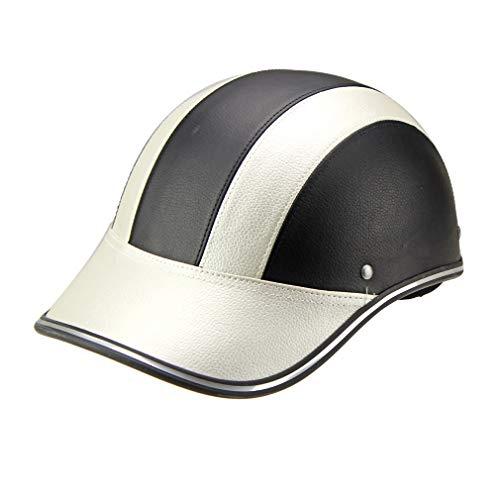 LHY RIDING Fahrradhelm Halb Helm Helm Baseballmütze Helm Männer Und Frauen Licht Halb Helm Frühling Und Herbst Kopfumfang (540-600mm),Silver