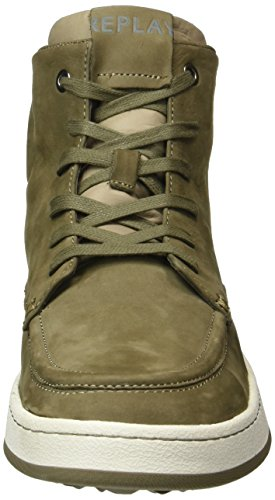 Replay Colony, Baskets Basses Homme Vert (TAUPE 57)