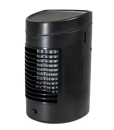 Vetrineinrete® Mini condizionatore portatile raffreddatore d'aria ad acqua raffrescatore evaporativo climatizzatore con due livelli di potenza ventilatore a batterie o corrente con serbatoio 825 ml per rinfrescare l'ambiente P5