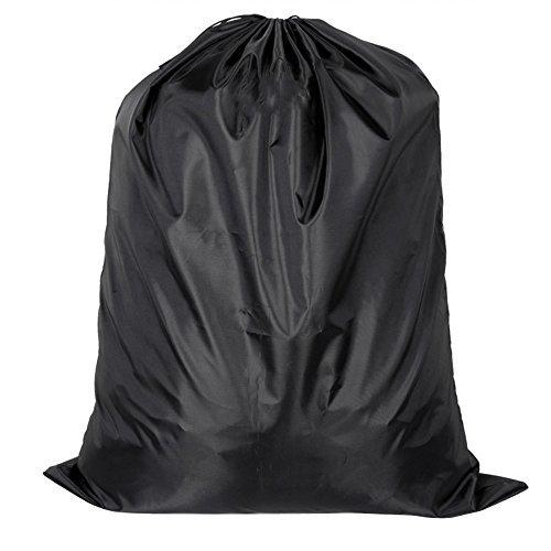 Supertech handliche Aufbewahrungstasche, wasserdicht Kordelzug Heavy Duty Nylon Organizer Tasche für Kleidung, Bettwäsche, Bettdecken, Kissen für die Speicherung oder Reisen, schwarz, 90*70cm (Nylon Heavy-duty Taschen)