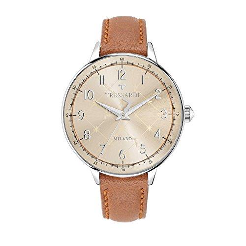 TRUSSARDI Reloj Analógico para Mujer de Cuarzo con Correa en Cuero R2451120503
