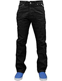 6e549923a8a Enzo Hommes Design Coupe Standard Jambe Droite Denim Jeans Taille Taille 28  ...
