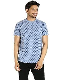 Basilio Men's All Over Printed Superfine Cotton T-Shirt